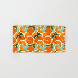 Orange Harvest - Blue Hand & Bath Towel