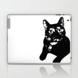 Graphic Cat | Black & White Laptop & iPad Skin