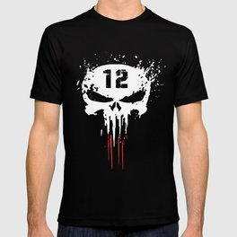 Tom Brady TB12 Punisher GOAT New Patriots Boston T-shirts T-shirt
