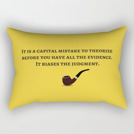 The Sherlock Holmes Quote IV Rectangular Pillow