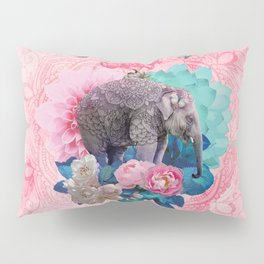 FLORAL ELEPHANT Pillow Sham