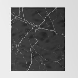 black marble I Throw Blanket