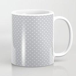 Ditsy Scallop in Dove Gray Coffee Mug