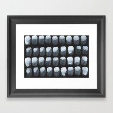 Black Oysters  Framed Art Print