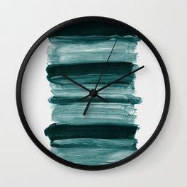 Abstract Minimalism Brushstrokes #1 #minimal #ink #decor #art #society6 Wall Clock