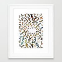 birds Framed Art Prints featuring Birds by Ben Giles