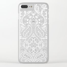 Paisley White Clear iPhone Case