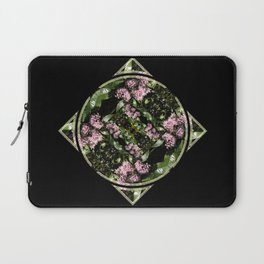 Butterflies and Flowers Mandala Laptop Sleeve