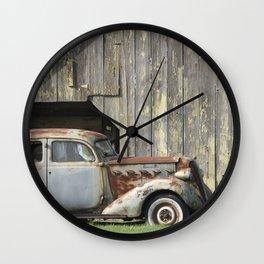 Well Worn Wall Clock