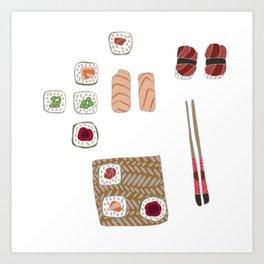 Japanese Sushi Art Print