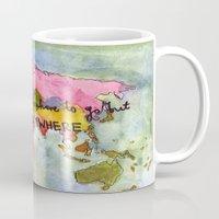 kerouac Mugs featuring wanderlust by Eliza L