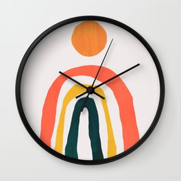 Sunrise over rainbow hill Wall Clock