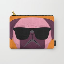 Orange Purple Cute Boss Pug Puppy Lover  Carry-All Pouch
