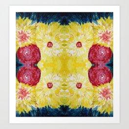 Blossoms Abstract Art Art Print