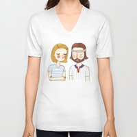 card V-neck T-shirts featuring Secretly In Love by Nan Lawson