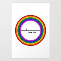 equality Art Prints featuring Equality by LukaG