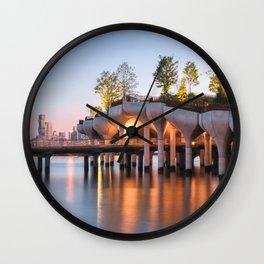Little Island Sunset Wall Clock
