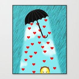 Umbrella Of Love Canvas Print