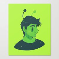 mulder Canvas Prints featuring Spooky Mulder by Sutexii
