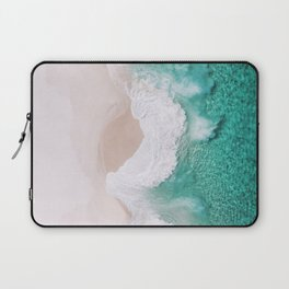 Waves spread out on the coast Laptop Sleeve