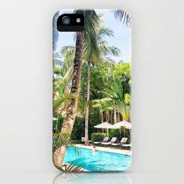 Brazilian Court Hotel pool iPhone Case
