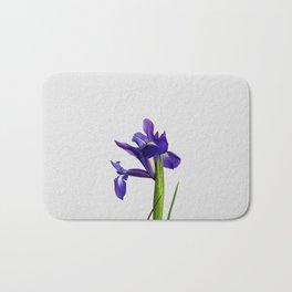 Iris Still Life, Flower Photography Bath Mat