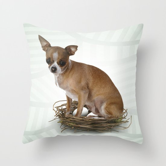 A little confused Throw Pillow