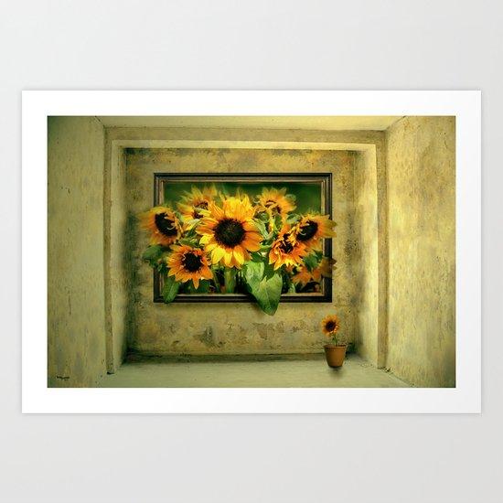 Der Sonnenblumenraum Art Print