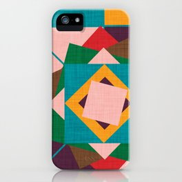 wind rose teal iPhone Case