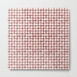 Marsala Pattern Metal Print