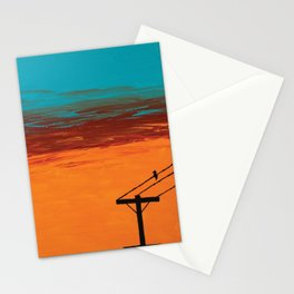 Bird On A Wire Stationery Cards