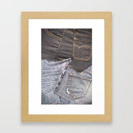 jeans denim as background Framed Art Print