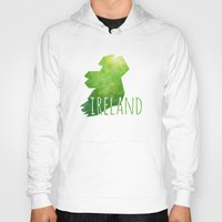 ireland Hoodies featuring Ireland by Stephanie Wittenburg