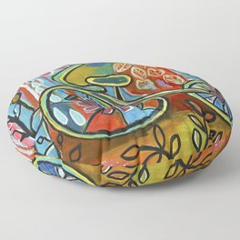 Onward-Whimsical Tricycle Painting Floor Pillow