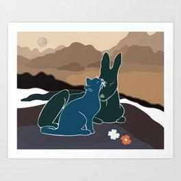 Companions II Art Print