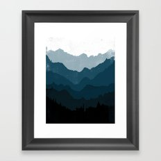 Mists No. 6 - Ombre Blue Ridge Mountains Art Print  Framed Art Print