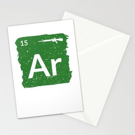 AR15 Rifle Periodic Table Patriotic For Veteran Stationery Cards