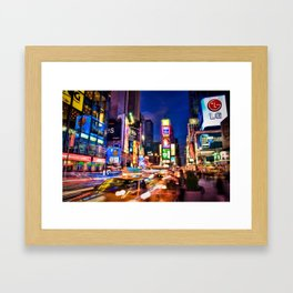 You Will Never Forget: Times Square, New York City Framed Art Print