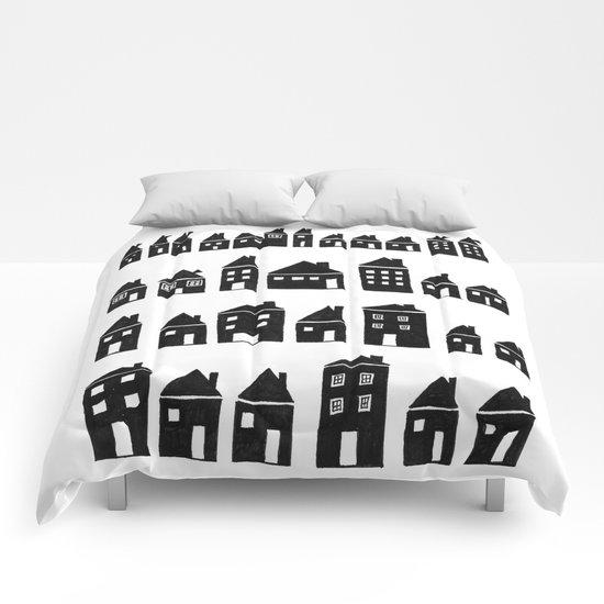 Black Houses Comforters