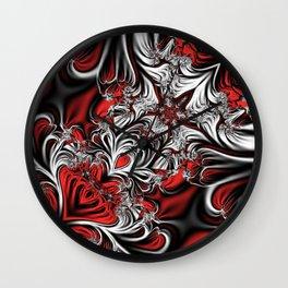 Fractal's pattern Wall Clock