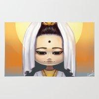 budi satria kwan Area & Throw Rugs featuring Kwan Yin  by Lurraeh Somohano