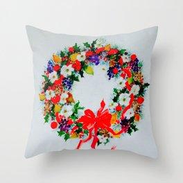 wreath 2 Throw Pillow