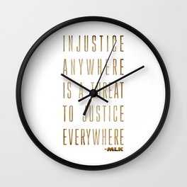 Martin Luther King Typography Quotes Wall Clock