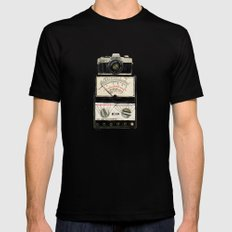 Analogue stack Mens Fitted Tee Black MEDIUM