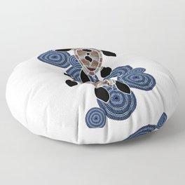 Aboriginal Art - Sea Turtles 2 Floor Pillow