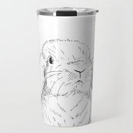 Curious Bunny Travel Mug