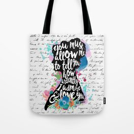 Mr. Darcy - Ardently Admire & Love You Tote Bag