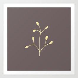 Coffee color brach Art Print