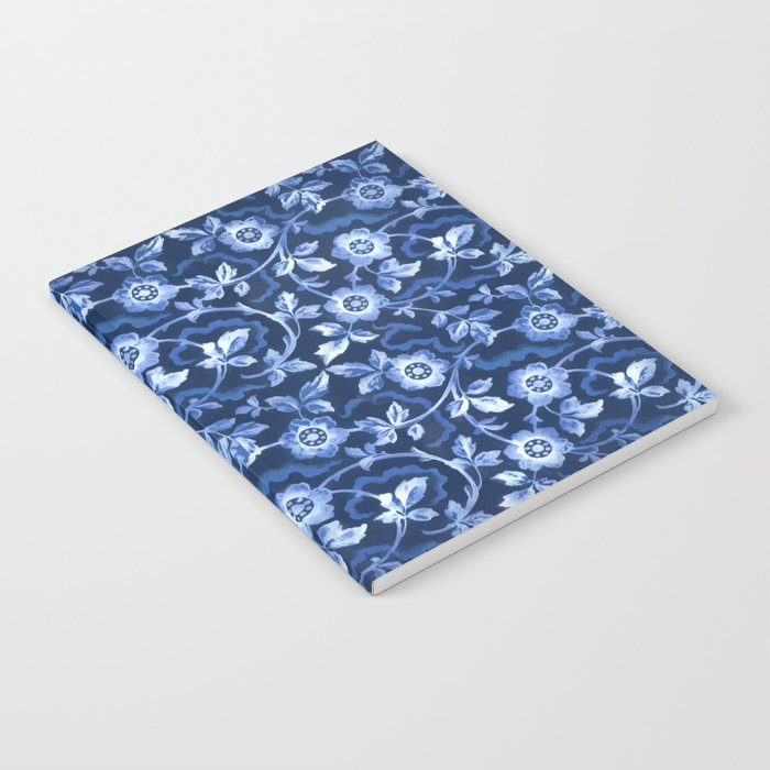Blue floral pattern Notebook