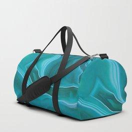 Agate sea green texture Duffle Bag